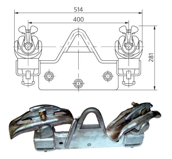 Зажим поддерживающий 2ПГН-5-7П3
